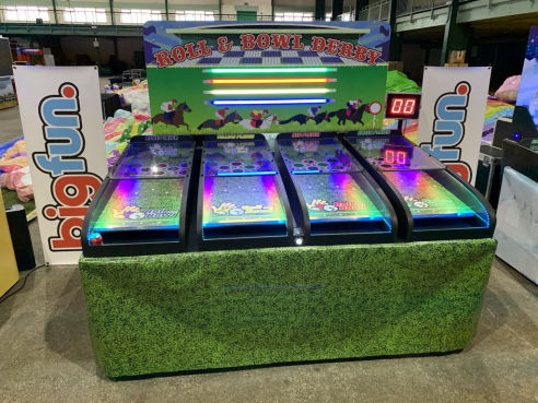 Roll and bowl light racing game hire