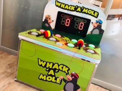 Branded whack a mole hire