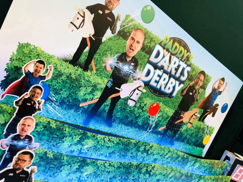 Roll a ball derby hire custom branding