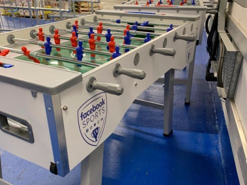 Branded table football hire