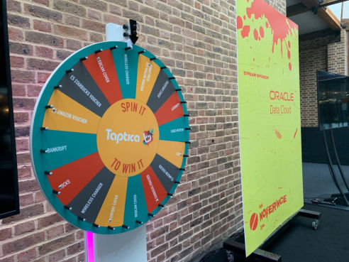 Branded prize wheel hire