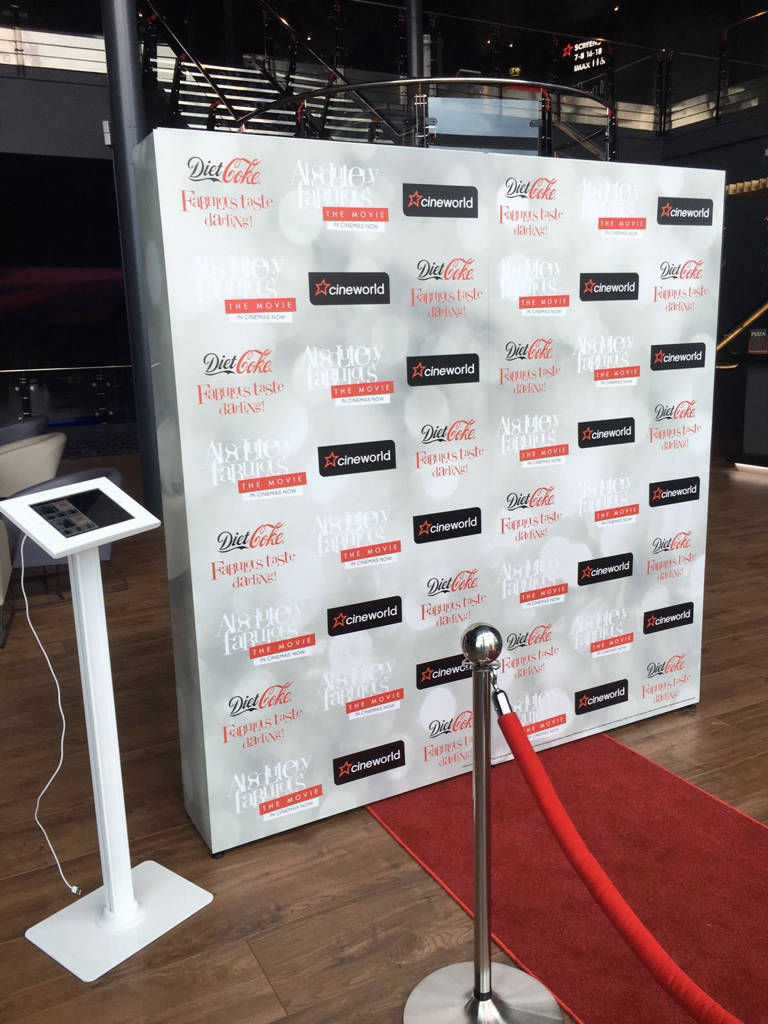 Step & repeat wall hire