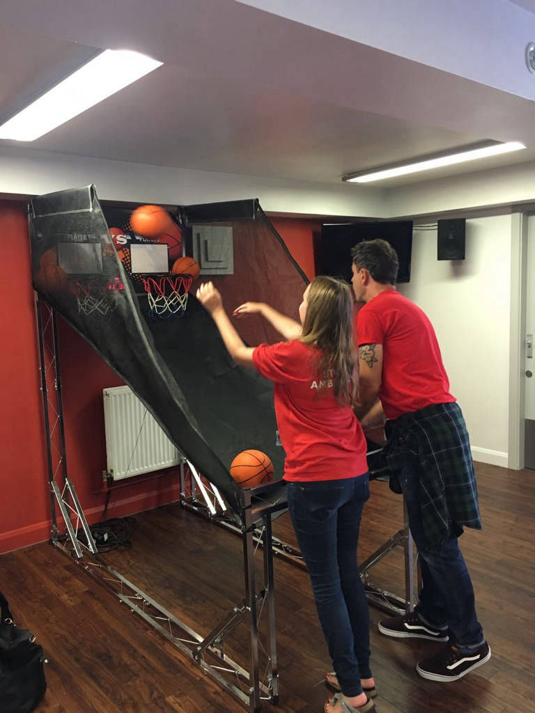 Hire basketball game for exhibition stand