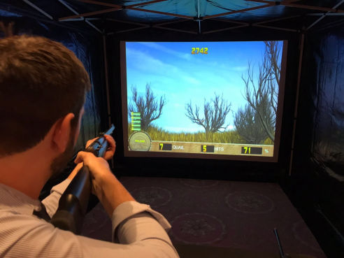 Laser shot shooting simulator hire