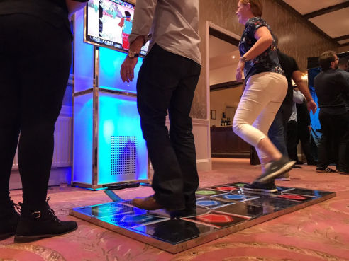 Branded dance machine hire