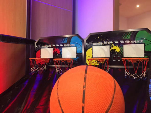 Branded basketball hire