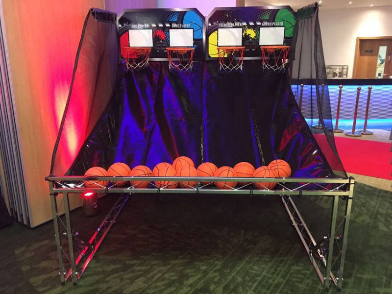 Quad shot basketball game hire