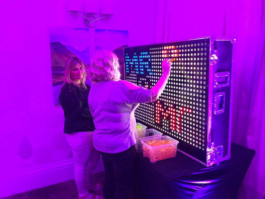 Lite brite wall london