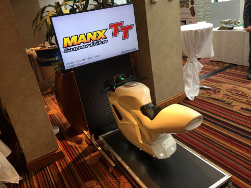 Branded motorbike simulator hire