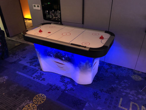 Branded air hockey hire