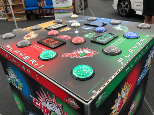 Branded chaos 4 player strike a light game hire