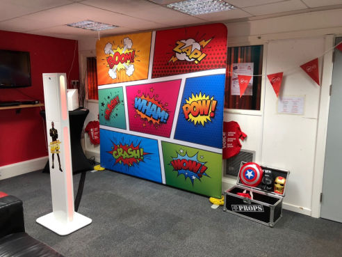 Branded social media pod photo booth hire