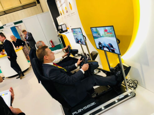 Branded race simulator hire