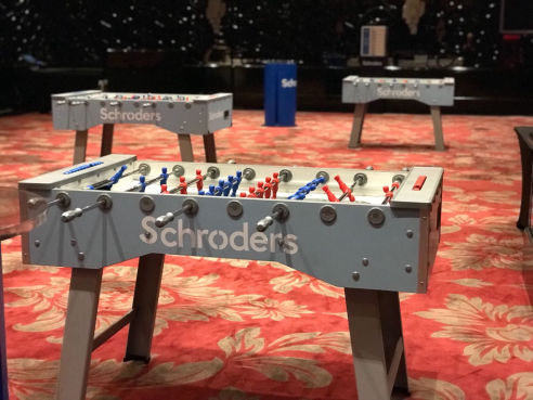 Branded table football table hire