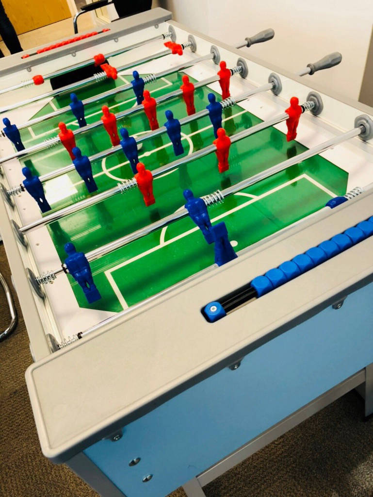 arcade football table hire