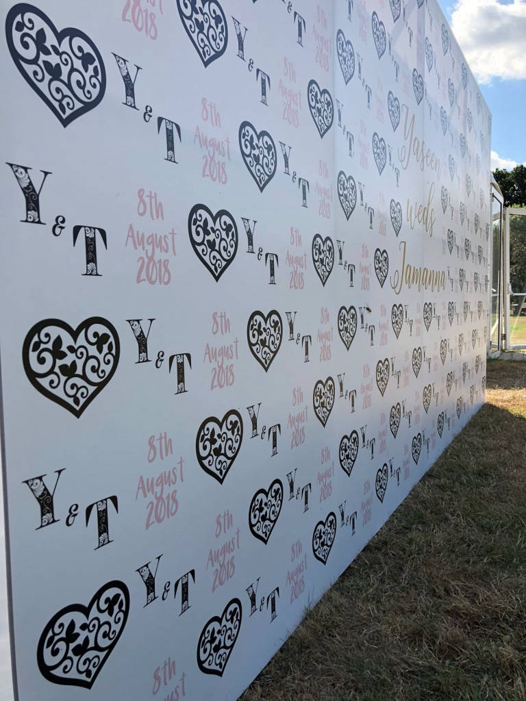 Red carpet photo wall