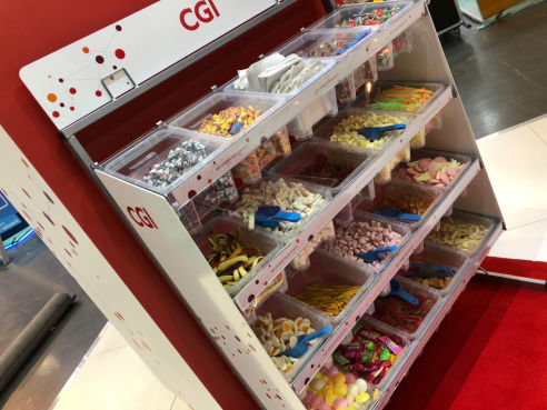 Branded pick n mix sweet stand hire