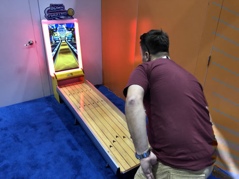 Branded virtual bowling game hire
