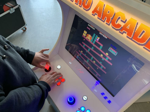 Branded retro arcade machine hire