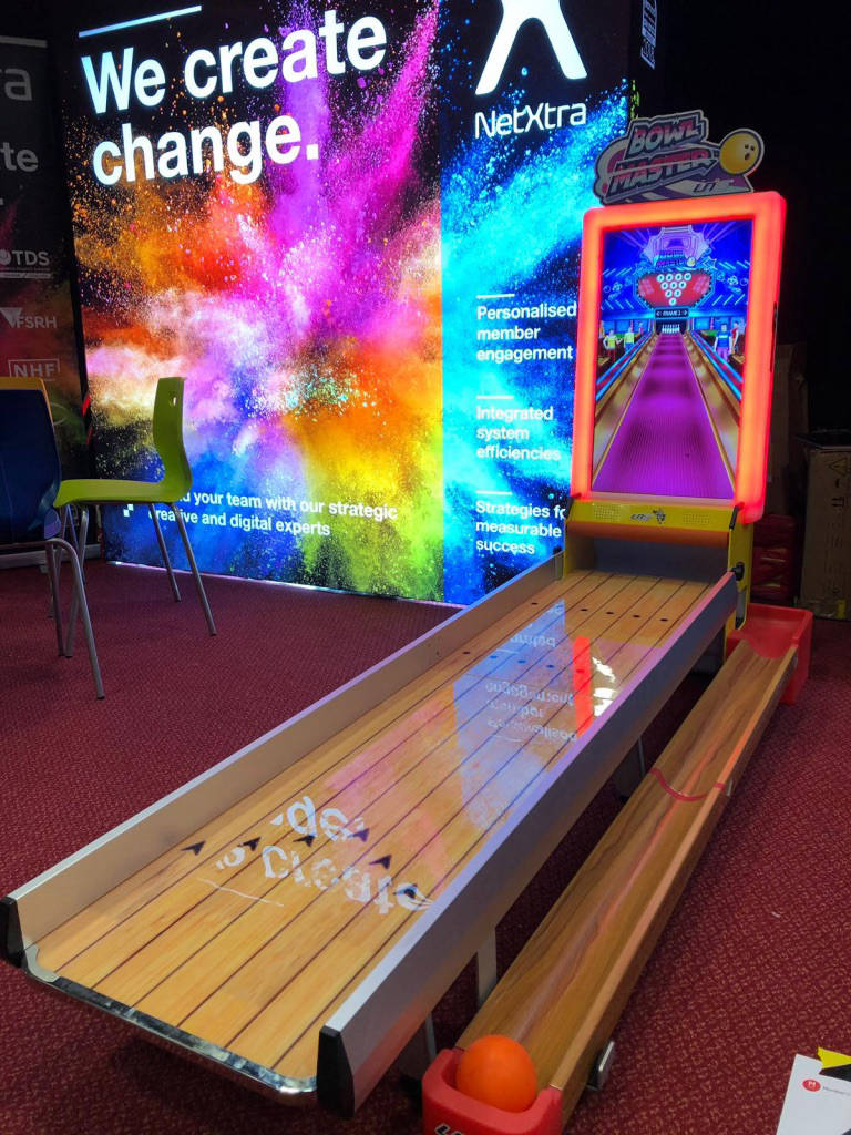 Virtual bowling alley hire