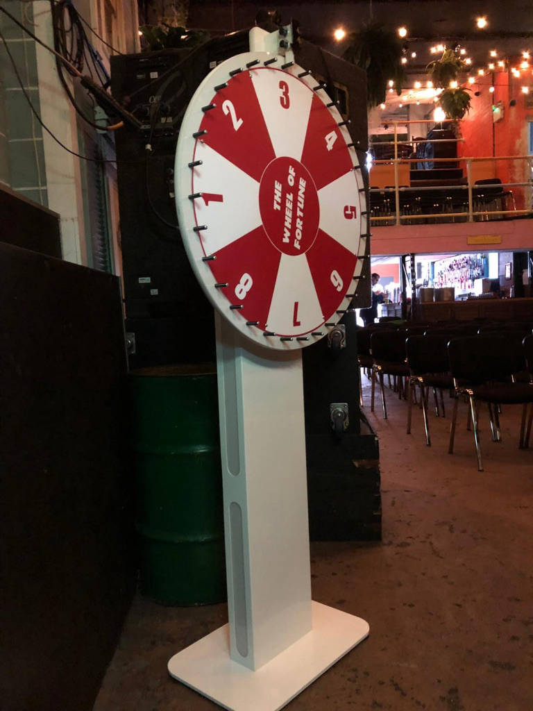 branded wheel of fortune hire