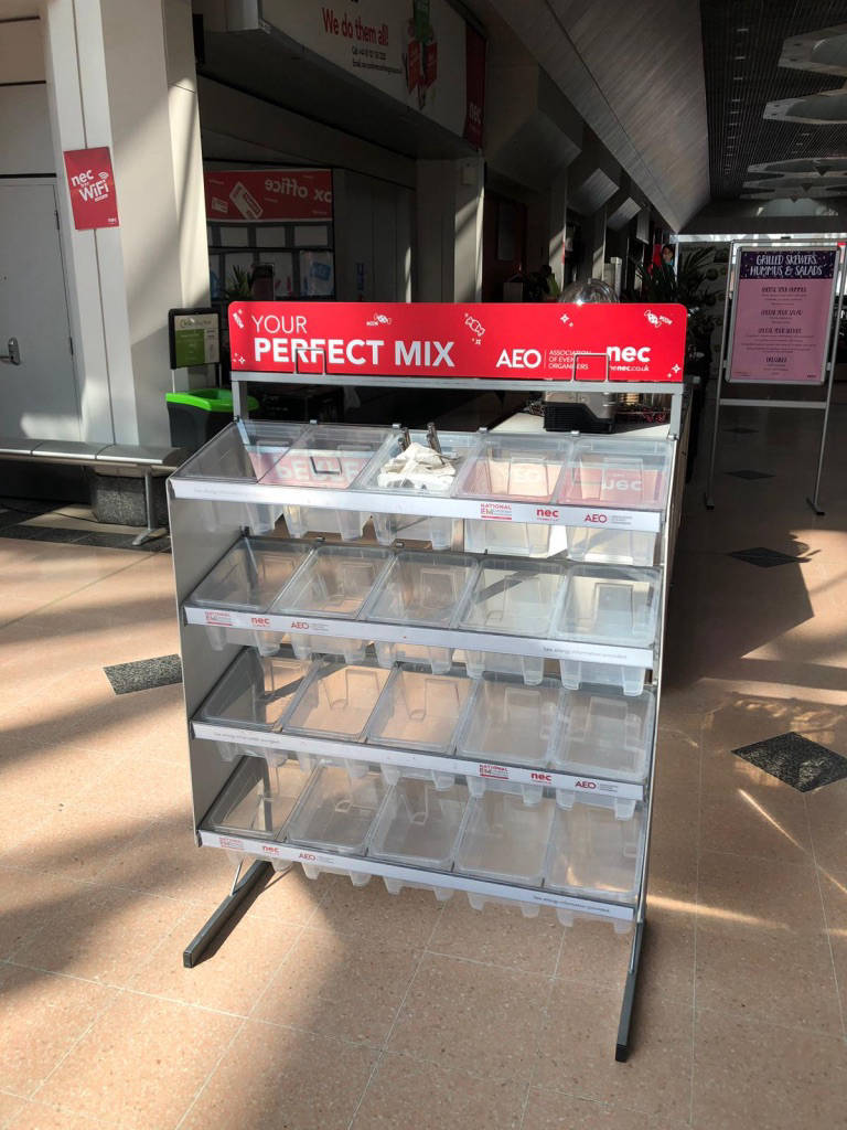 Branded pick n mix stand