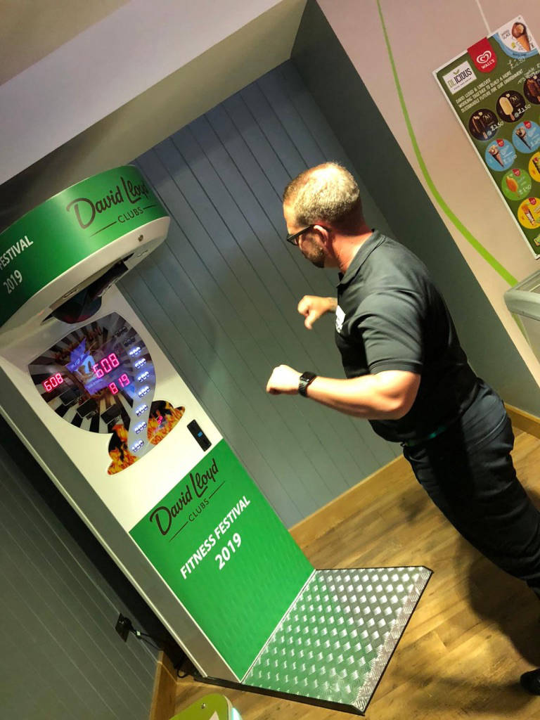 Hire branded arcade boxing machine