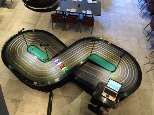 8 Lane slot car scalextric hire